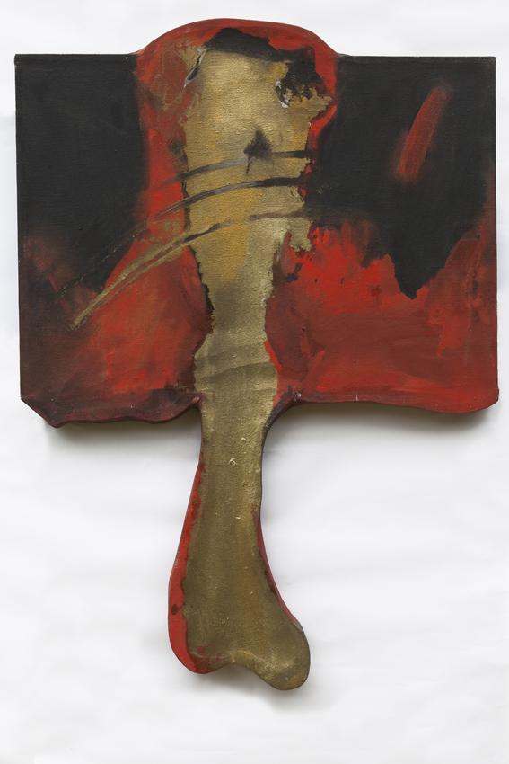  Rituale 1012 - 1988 - tempera grassa e metalli su tela, cm. 70 x 95