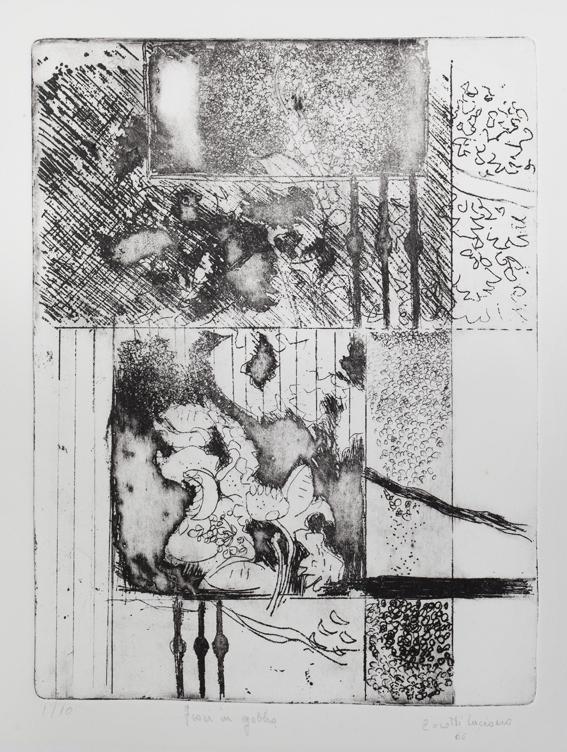 Fiori in gabbia - 1966 - acquf, acqut, mm. 190 x 250ok
