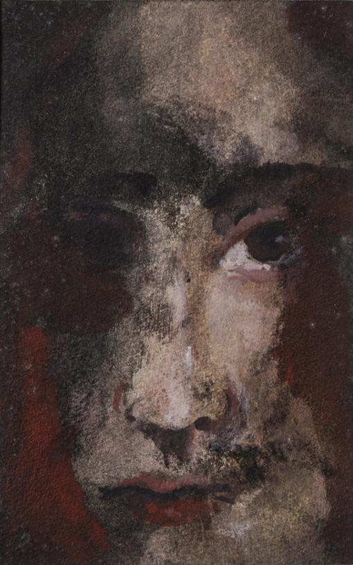 Ritratto - 2009 - monotipo su carta, mm. 90 x 150