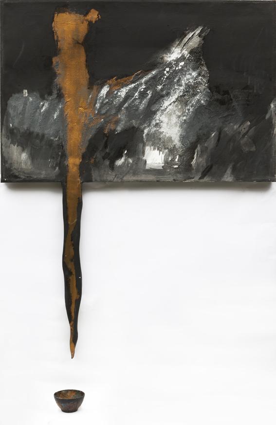 Rituale 1006 - 1988 - tempera grassa e metalli su tela, cm. 120 x 160