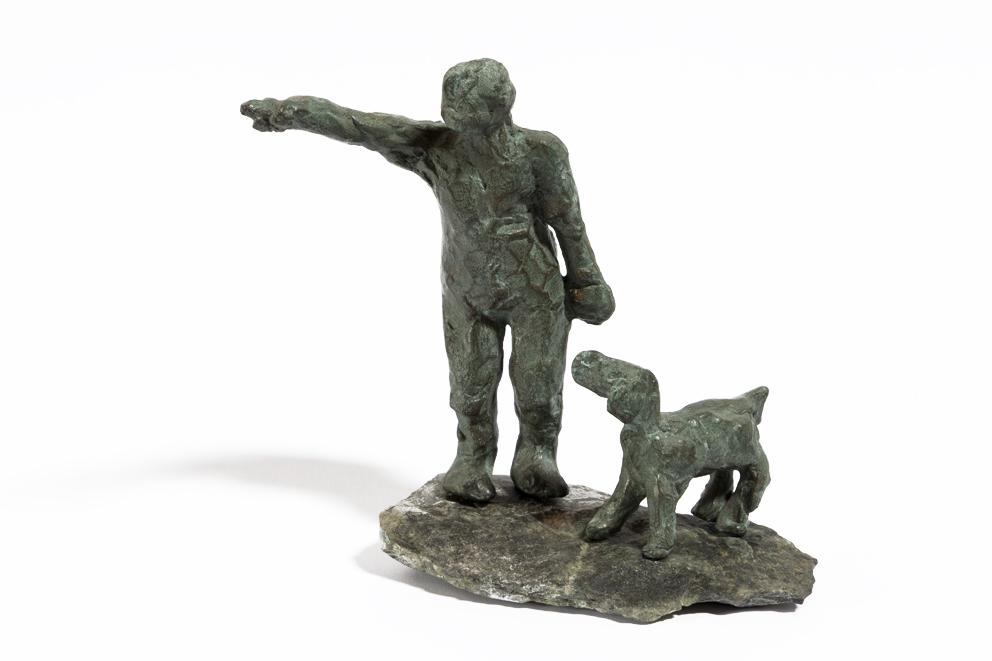 Uomo con cane ok  - 2007 - bronzetto