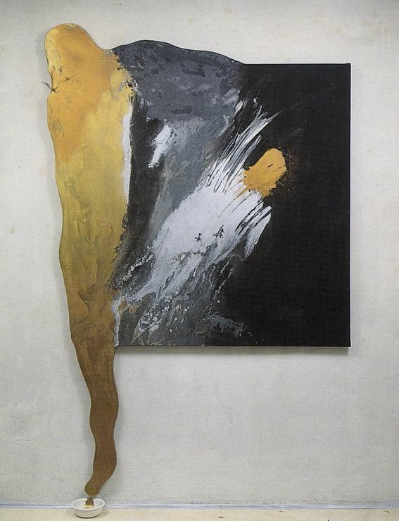 Rituale - 1988 - tempera magra e metalli su tela, cm. 100 x 240