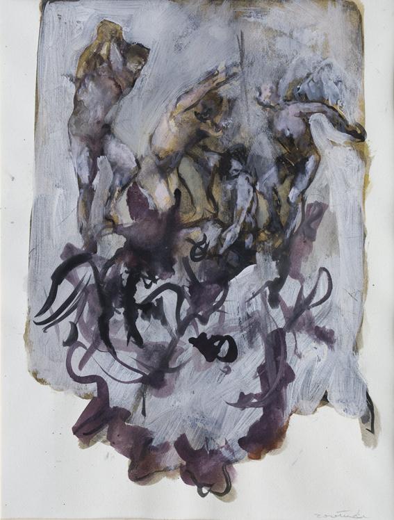 Dall'Apocalisse, 1994, gouache su carta, 40x60